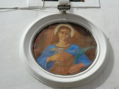 サンタ・キアーラ教会の扉上