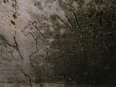 洞窟教会お馬さんの絵