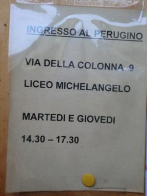 サンタ・マリア・マッダレーナ・デ・パッツィ修道院の張り紙