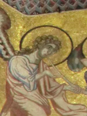 サン・ジョヴァンニ礼拝堂 ラッパを吹く天使アップ