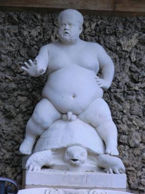 ボーボリ庭園の太った小人
