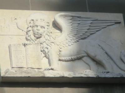 ベルガモ ヴェネツィアの羽根のついたライオン