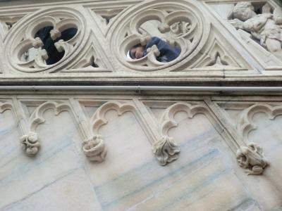 ミラノ ドゥオーモ屋上への階段
