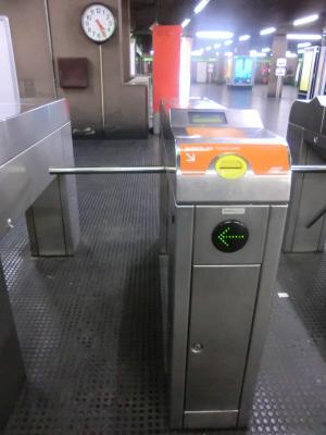 ミラノ 地下鉄の改札