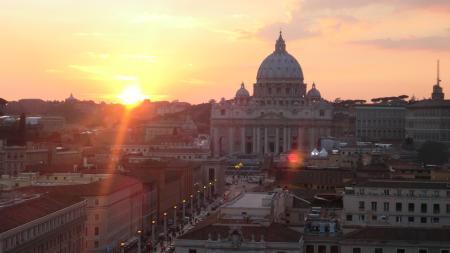 サンタンジェロ城からの夕景