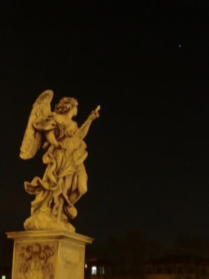 サンタンジェロ橋 星を差す天使