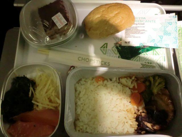 アリタリア航空機内食